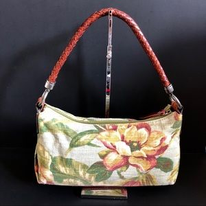 Fossil Canvas & Leather Shoulder Bag Gently Used